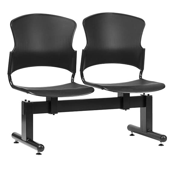 Style Ergonomics Beam Seating Visitors Chair Welded Frame Black FOCUS F-BEAM-2