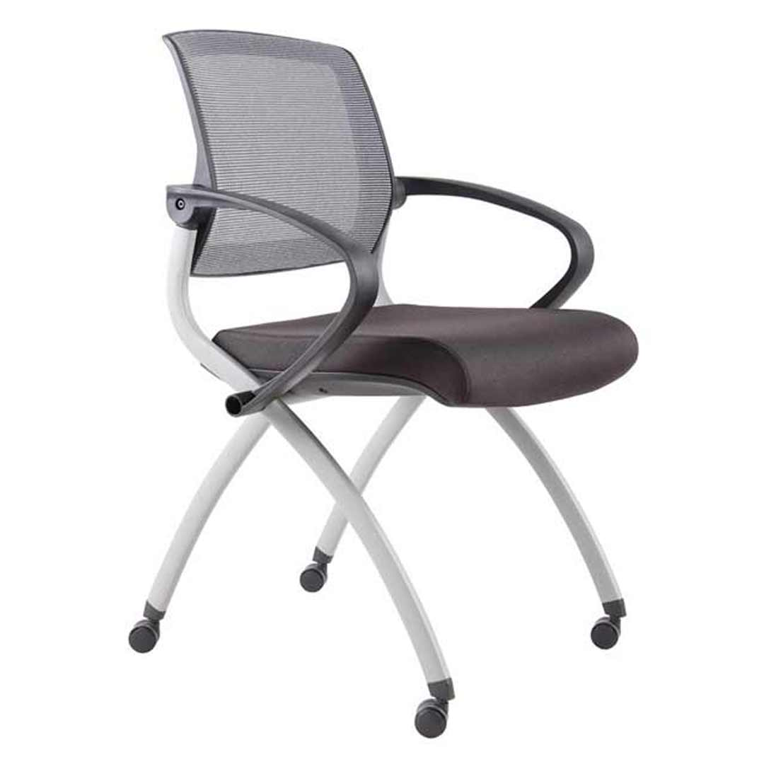 Event Arm Chair Foldable Lightweight Armchair Mobile Rapidline Zoom Grey