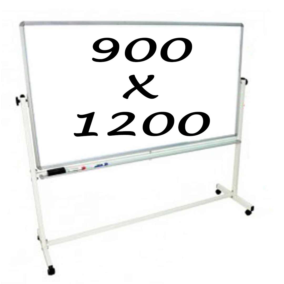Whiteboards Direct Mobile Whiteboard Double Sided 900 X 1200mm Pivoting Commercial Magnetic Writing Board