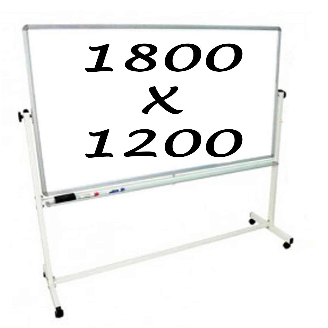 KR Commercial Magnetic Double Sided Pivoting Mobile Whiteboards 1800 X 1200mm