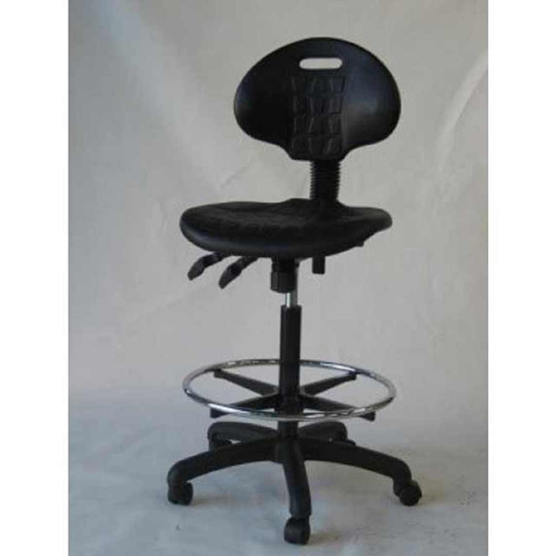 Chairlink Drafting Chair 2 Way Gas Lift Office Desk Chairs PU Black