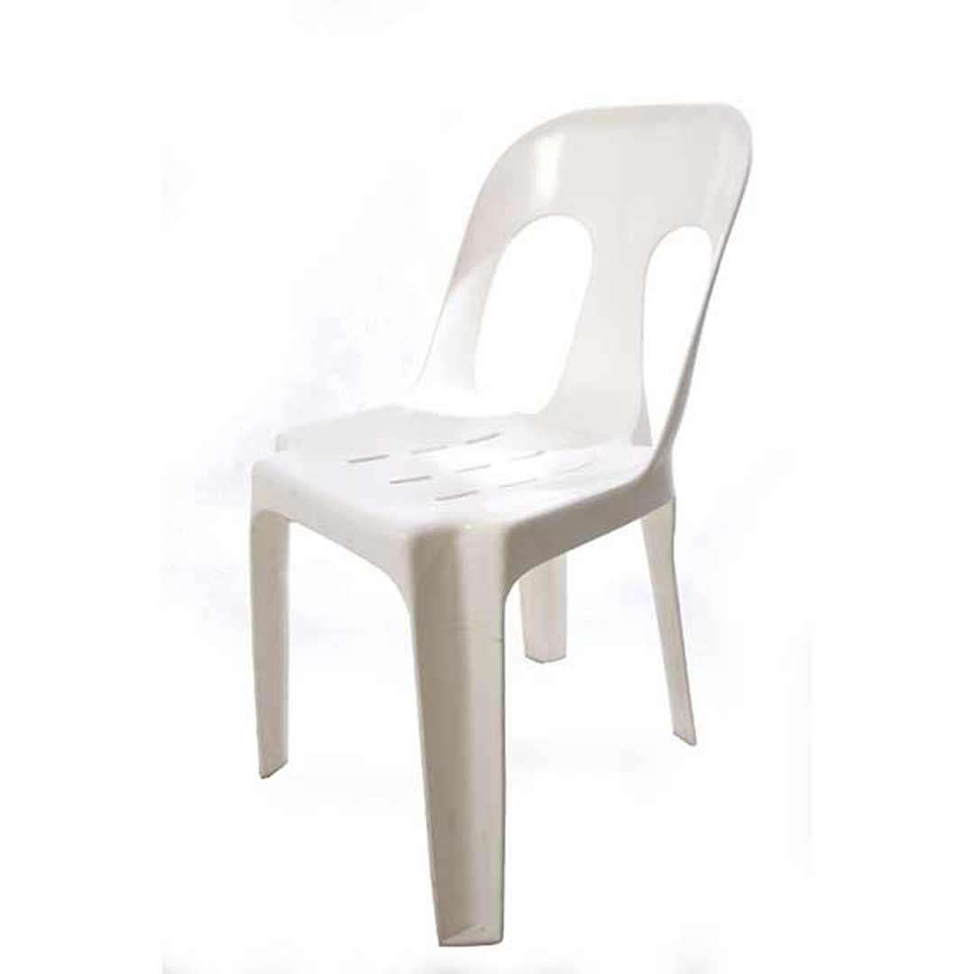 Rapidline Outdoor Event Chair Plastic Stackable Lightweight 150Kg Rating Pipee White