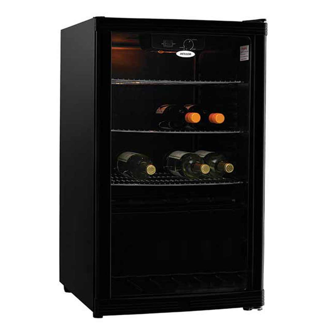 Heller 115L Wine Bar Fridge Beverage Cooler Black HBC115B