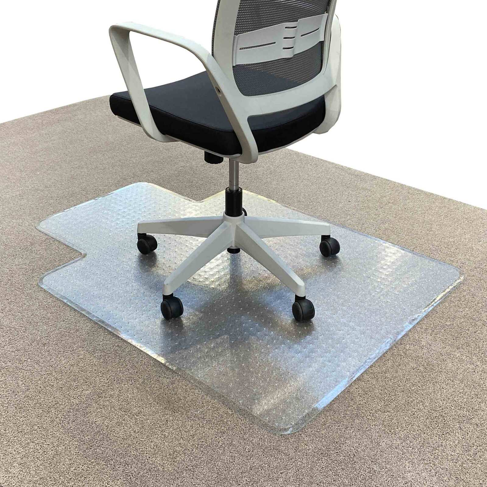 RapidLine Keyhole Office Chair Mat Carpet Floor Protector Small 1225 x 925