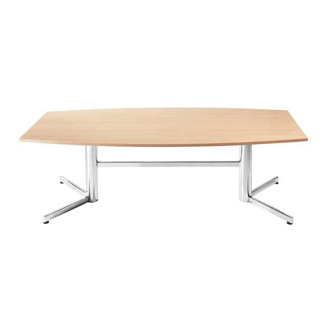 Boardroom Table 2400 x 1200mm Chrome Legs Conference Meeting Beech