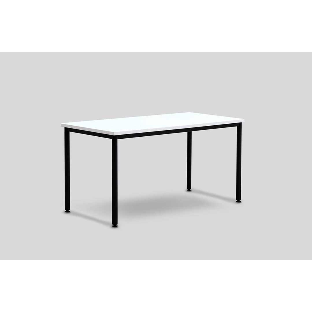 Metal Black Frame Computer Table Conference Office Desk Silver Grey Top 1500 W x 750 D