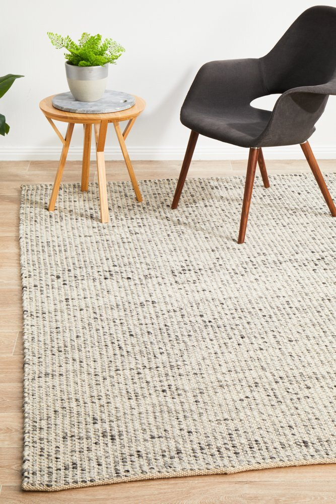 Rug Culture Carlos Felted Wool Flooring Rugs Area Carpet Grey Natural 320x230cm