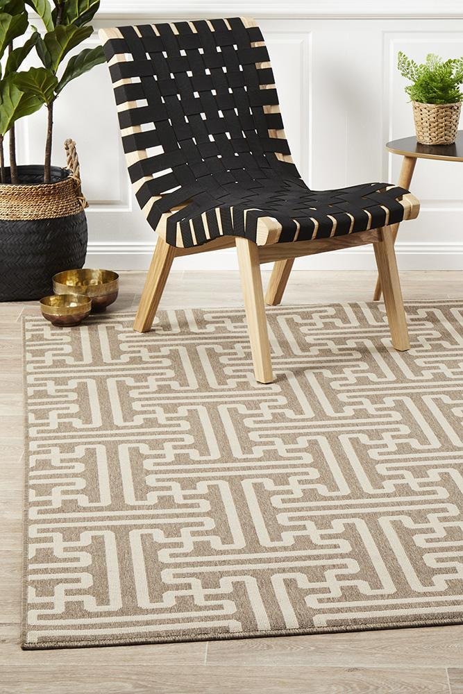 Rug Culture Seville Geo Natural Oudoor Flooring Rugs Area Carpet 220X150cm
