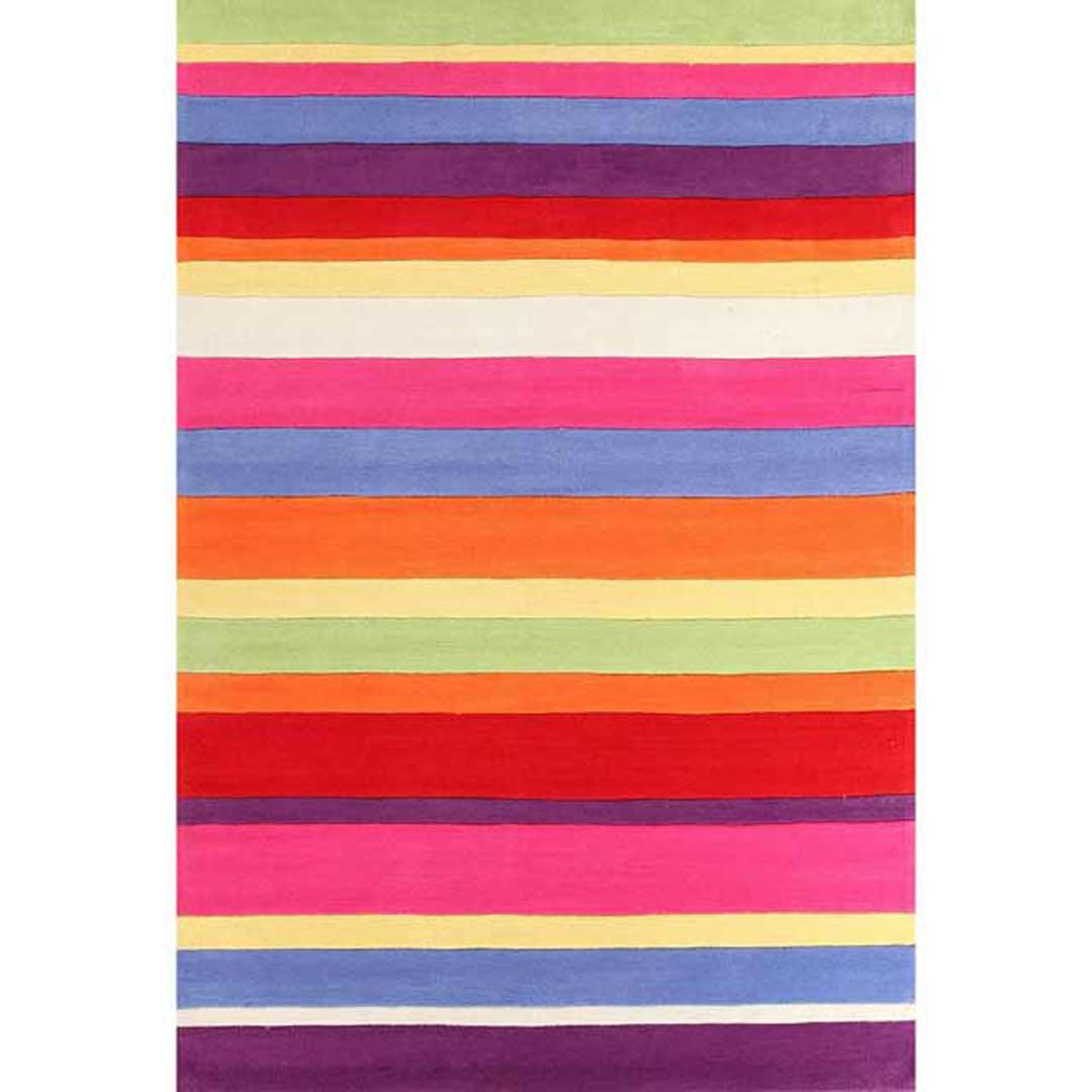 Candy Stripe Flooring Rug Area Carpet 165x115cm