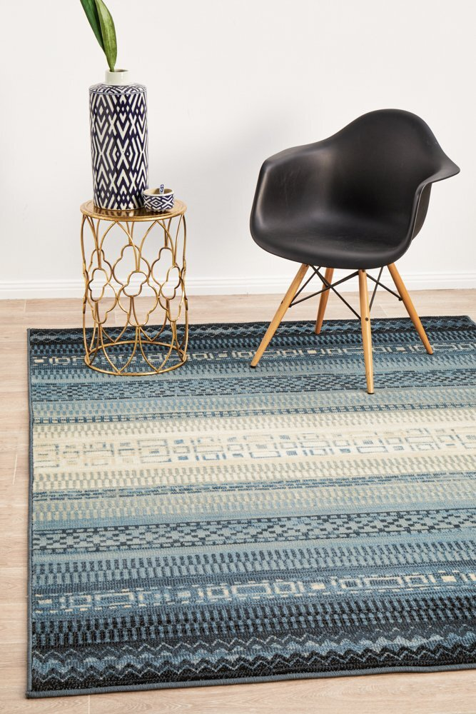 Rug Culture One Tribe Navy Modern Flooring Rugs Area Carpet 330X240cm