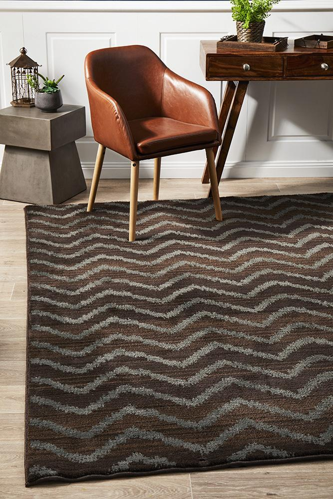 Rug Culture Morrocan Chevron Design Flooring Rugs Area Carpet Brown Grey 290x200cm