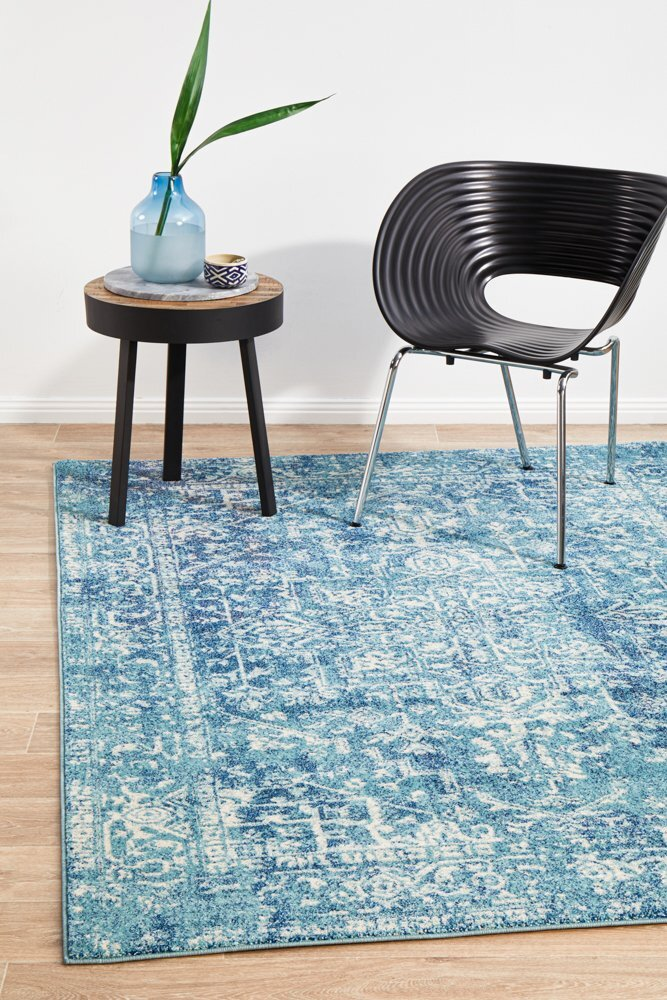 Rug Culture Muse Blue Transitional Flooring Rugs Area Carpet 230x160cm