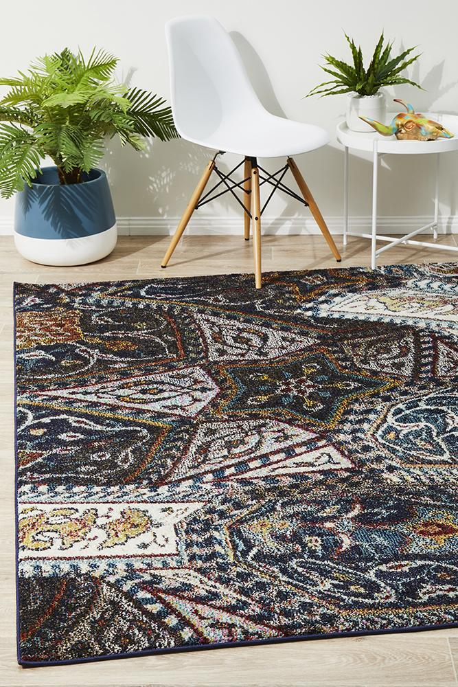 Rug Culture Tribe Modern Navy Flooring Rugs Area Carpet 330x240cm