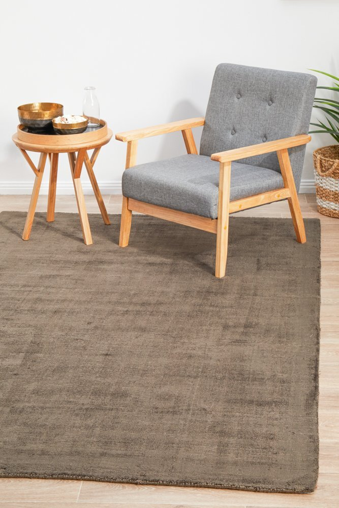 Rug Culture Luxe Modern Distressed Flooring Rugs Area Carpet Chocolate 280x190cm