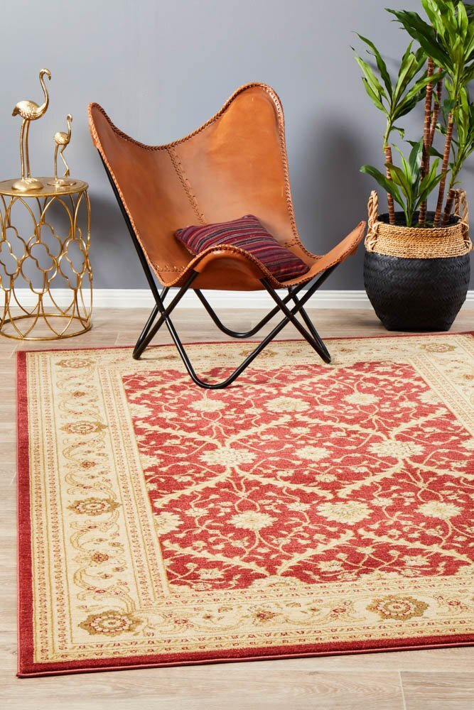 Chobi Design Flooring Rug Area Carpet Red Bone 330x240cm