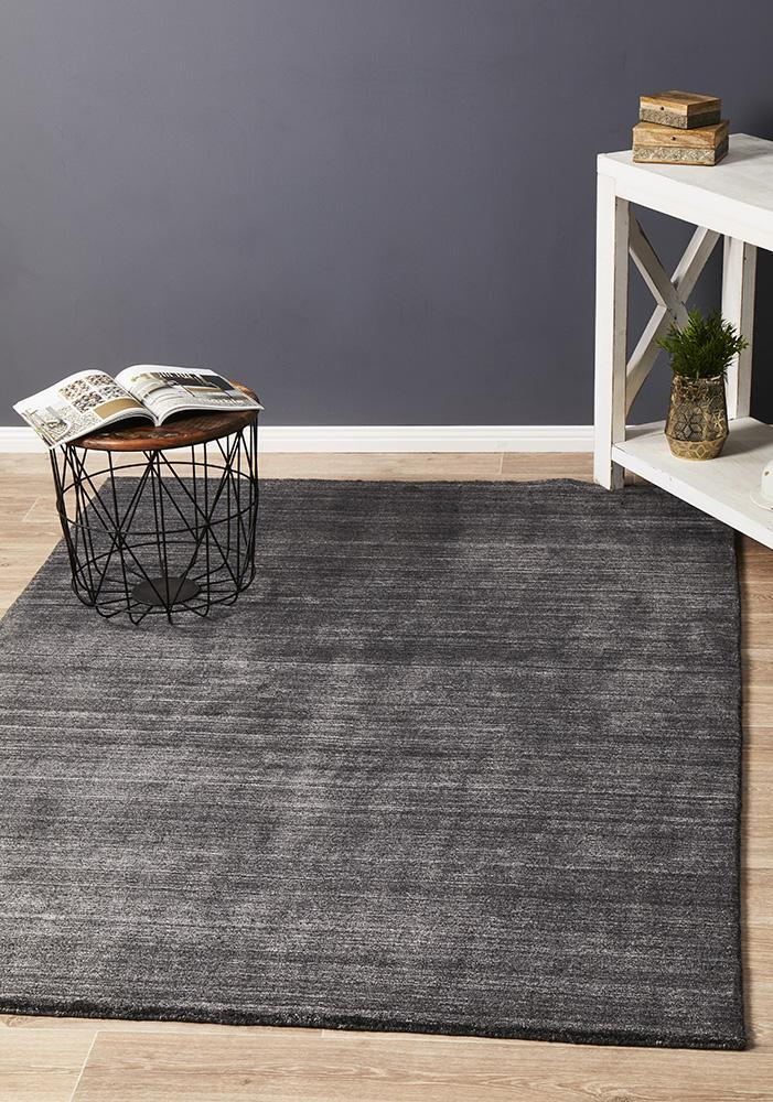 Rug Culture Manhattan Stylish Hand Made Flooring Rugs Area Carpet Charcoal 320x230cm