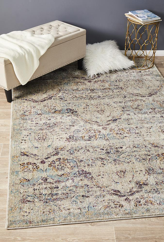 Rug Culture Limerick Stunning Designer Floor Area Rugs Silver Blue  ANA-251-SILV-400X300cm