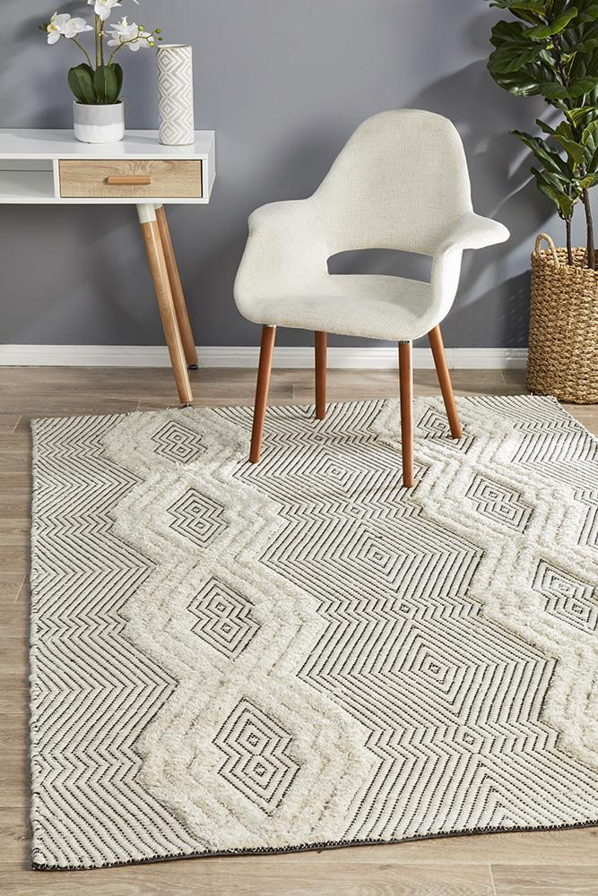 Rug Culture Rhythm Chime Bone Floor Area Rug MIL-741-BON-280X190cm