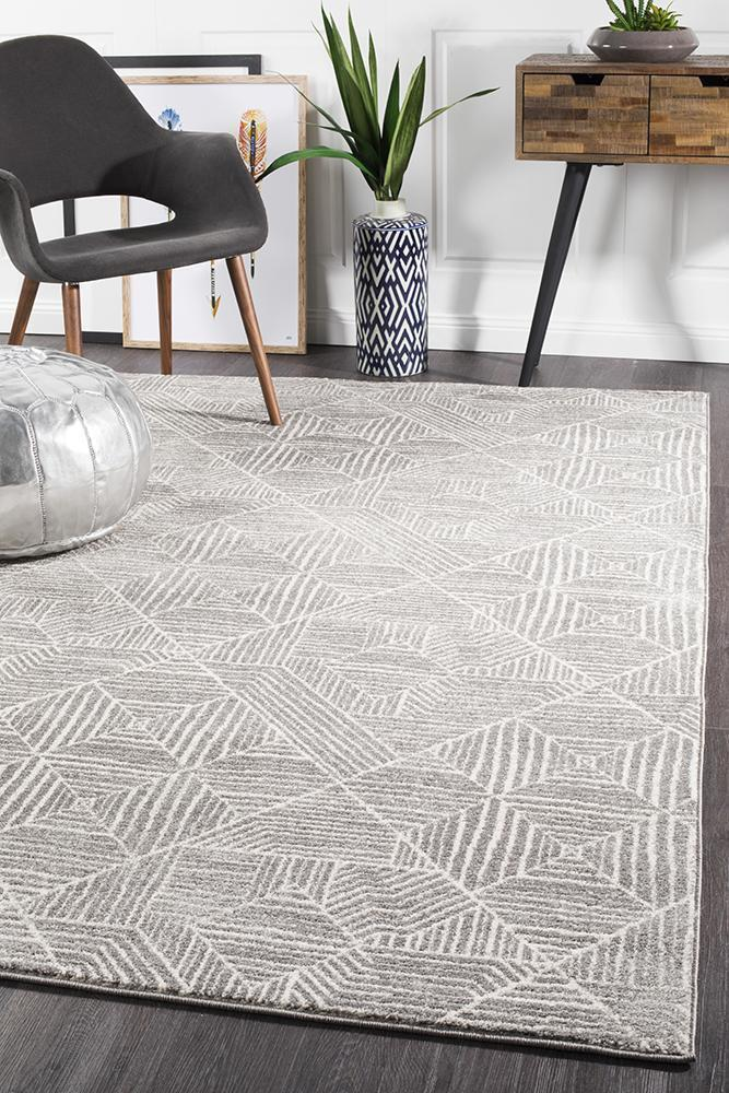 Rug Culture Kenza Contemporary Silver Floor Area Rugs OAS-457-SIL-330X240cm