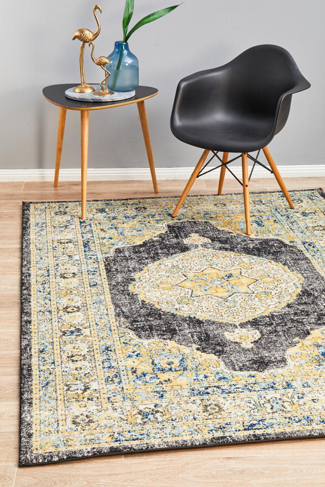 Rug Culture CENTURY 955 Floor Area Carpeted Rug Contemporary Rectangle Charcoal 330X240cm