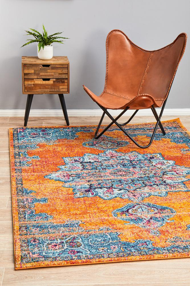 Rug Culture RADIANCE 433 Floor Area Carpeted Rug Contemporary Rectangle Rust 330X240cm