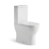 Castano Toilet Suite Wall Faced Rimless Bottom & Rear Inlet Positano POSWFPW