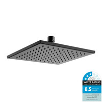 Castano Square Shower Head 200mm Rose Black Elba ELSH200-B
