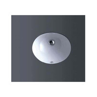 ECT Global Under Mount Basin Bathroom Ceramic Round Vanity White Sotto WB 908