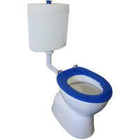 Johnson Suisse Special Needs Toilet Suite S Trap Includes Back Rest with Plastis Cistern Select Assist Deluxe