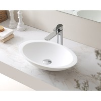 SI A23-600 Phoenix Above Counter Basin Matte Vanity White