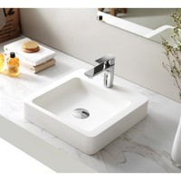 SI Aust Grp SI A20 - 380 Grande Above Counter Basin Matt Vanity WHITE