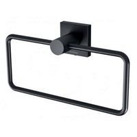 Phoenix Tapware Guest Towel Holder Metal Matte Black Square RADII RS893 MB