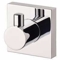 Phoenix Tapware Robe Hook Square Metal Chrome Finish Radii RS897 CHR