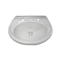 Caroma Fowler Tasman Deluxe Wall Basin Bathroom Vanity Basin Three Tap Hole