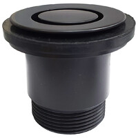 Bath Pop Down 40mm Plug and Waste Matt Black Wasteland 21811.25