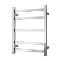 Alexander Heated Towel Rail Rack Square 5 BAR Bathroom Clothes Ladder Warmer Rails Elan 20S ELA-8A01