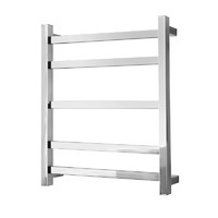 Alexander Heated Towel Rail Rack Square 5 BAR Bathroom Clothes Ladder Warmer Rails Elan 30S ELA-8A02