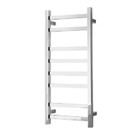 Alexander Heated Towel Rail Rack Square 8 BAR Bathroom Clothes Ladder Warmer Rails Elan 60S ELA-8A08