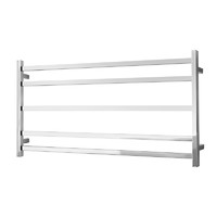 Alexander Heated Towel Rail Rack Square 5 BAR Bathroom Clothes Ladder Warmer Rails Elan 100S ELA-8A09