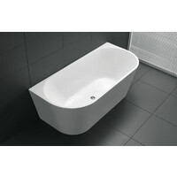 Best BM Bath Back to Wall Tub Bathroom Bathtub 1500mm White Atlanta BTA1500