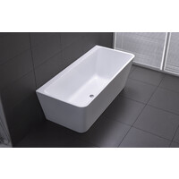 Best BM Bath Tub Back to Wall Bathroom Bathtub 1500mm White Florence BTF1500