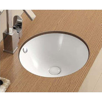 ECT Global Round Under Counter Basin Bathroom Vanity WHITE Reno WB 4040U