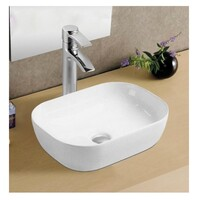 ECT Global Above Counter Basin Ceramic Bathroom Vanity Gloss White Lucerne WB 4632