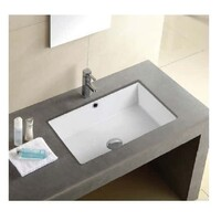 ECT Global Under Counter Basin Ceramic Bathroom Vanity Gloss White QUBI-II WB 5038A