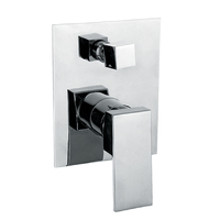 Best BM Flat Plate Shower Wall Mixer with Diverter Chrome Dallas BTD3106