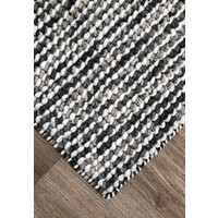 Bayliss Rugs Barossa Hand Woven Wool Floor Area Rug 160cm x 230cm River Grey