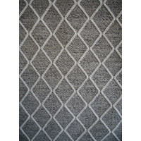 Bayliss Rugs Ivy Fog Graphite Hand Woven Wool Floor Area Rug 160cm x 230cm