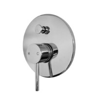 Castano Milan Round Pin Lever Bath Shower Wall Diverter Mixer Chrome MISDIC