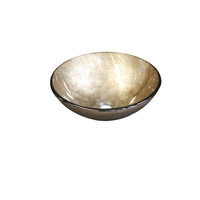 Castano Gold Glass Round Above Counter Basin GOLDRDGB