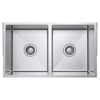 Castano Kitchen Sink Double Bowl Square Undermount Orta SSORTA2087A